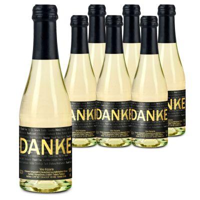 6 x Danke Secco 0,2 l Flasche - individuell gestaltbar