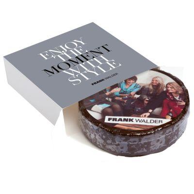 Runde Design-Torte in bedruckter Aktionsbox