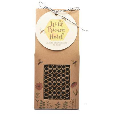 Wildbienen XL Hotel mit Nisthülsen individualisierbar mit Logo