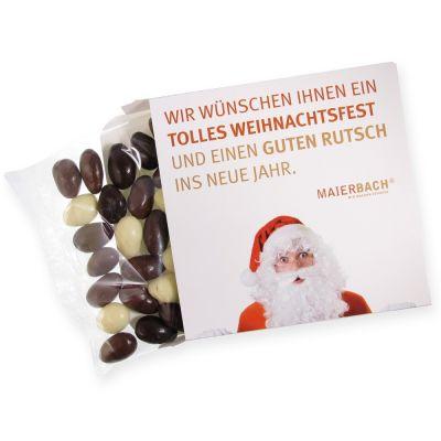 Weihnachtsmandeln in bedruckbarer Kartonage