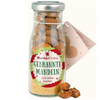 DIY Gebrannte Mandeln in der Flasche - Etikett individuell gestaltbar
