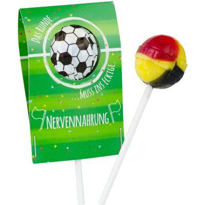 Fußball-Lolli - individuell bedruckbar