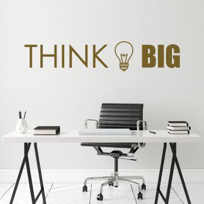"Wandtattoo ""Think big"""