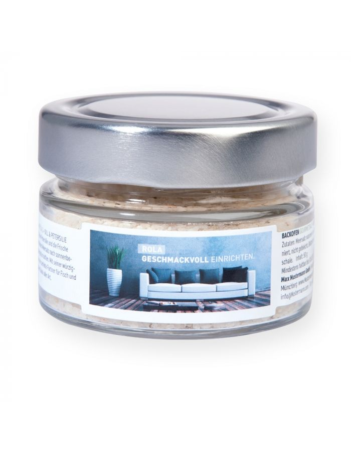 BACKOFEN-Gourmetsalz im Maxi-Glas - individualisierbar
