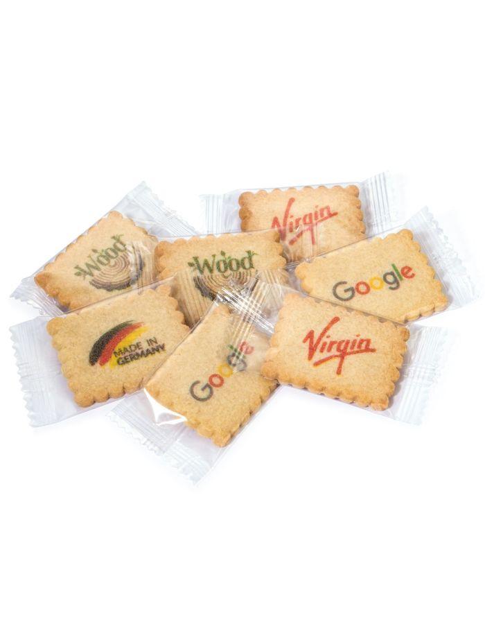 4-farbig bedruckte Vanille-Butterkekse einzeln verpackt