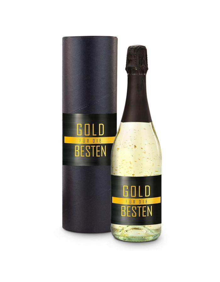 Gold für die Besten 0,75 l Flasche - individualisierbar