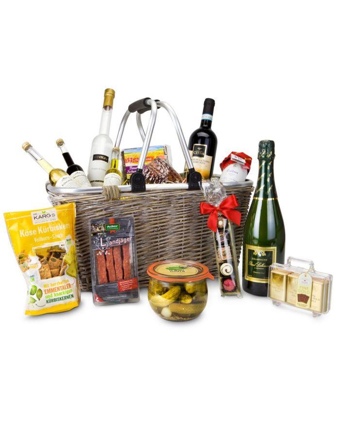 Geschenkkorb XXL mit 14 leckeren Produkten