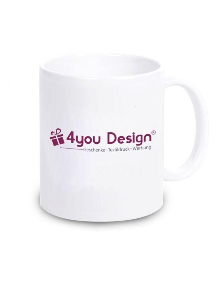 Kaffeebecher beidseitig  mit Firmenlogo/Wunschmotiv bedruckt