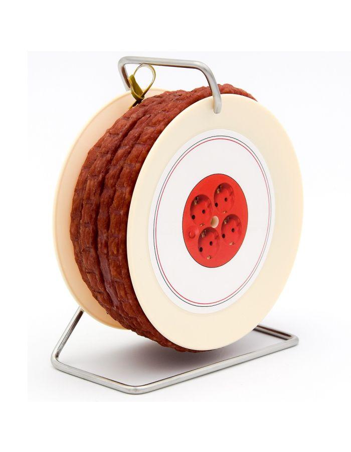 Snackwurst auf Mini-Kabeltrommel - personalisierbar