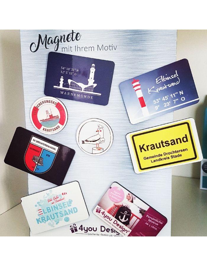 Magnete mit Ihrem Logo oder Wunschmotiv bedruckt