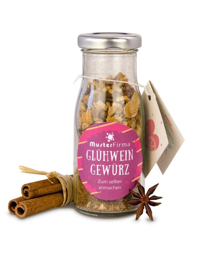 DIY Glühweingewürz in der Flasche - Etikett individuell gestaltbar