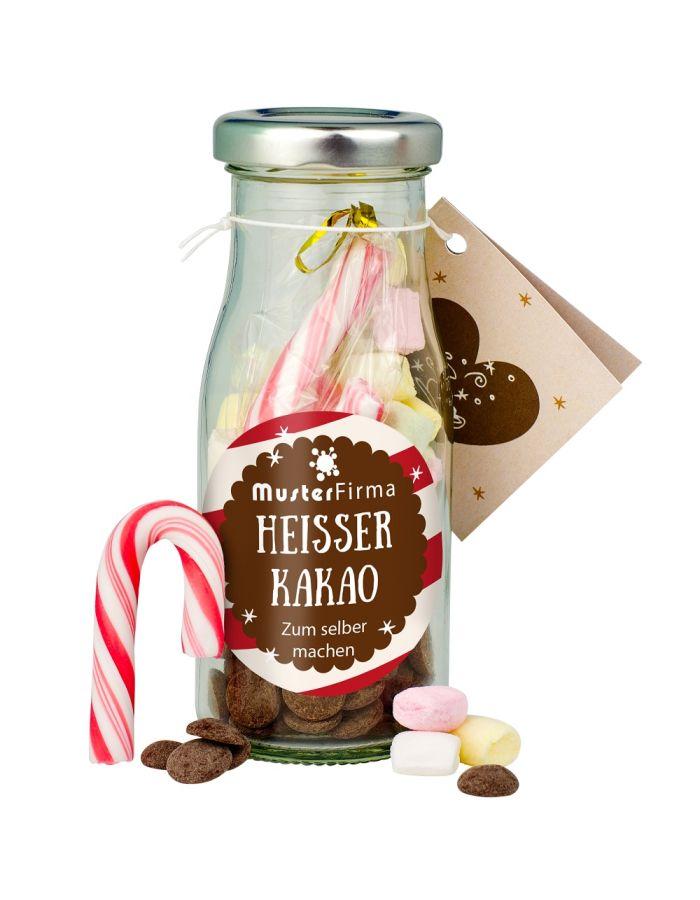 DIY Heißer Kakao in der Flasche - Etikett individuell gestaltbar