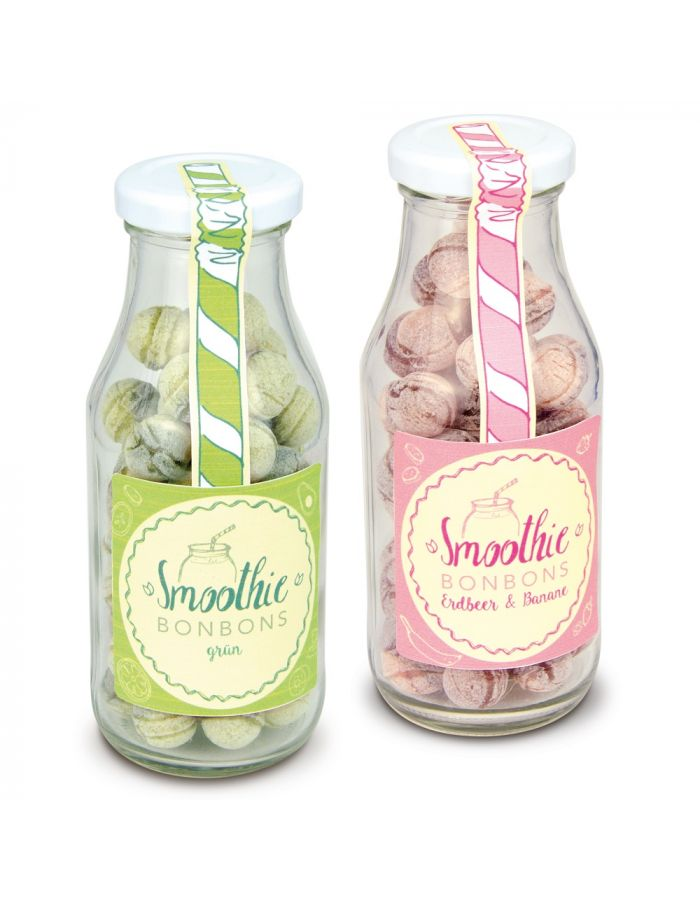 Milchflasche Saftpause Apfel-Smoothie Bonbons