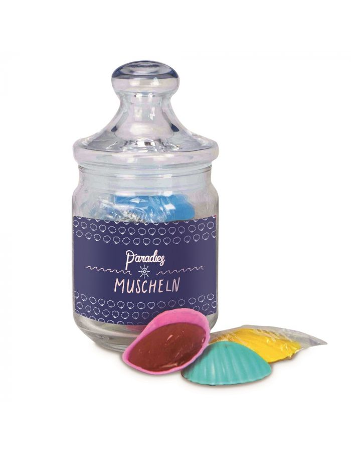 Nostalgieglas Paradiesmuscheln - mit Individualisierung