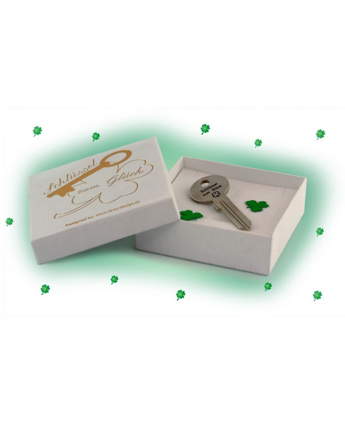 Schlüssel zum Glück mit Gravur