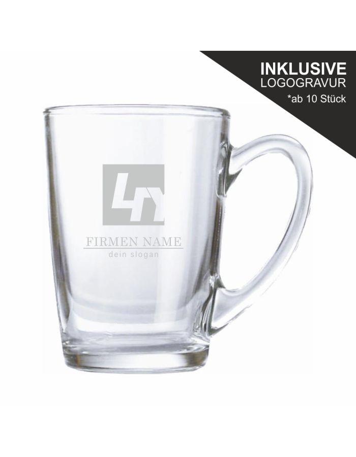 Teeglas / Glühweinglas inklusive Logogravur