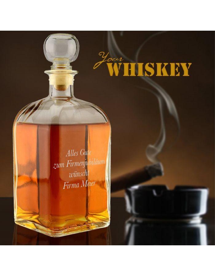 Whiskykaraffe mit Logo- oder Textgravur