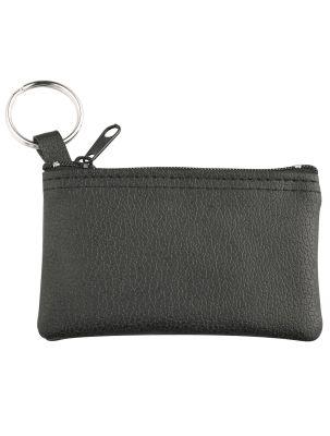 Schlüsseltasche schwarz mit Logodruck oder -prägung