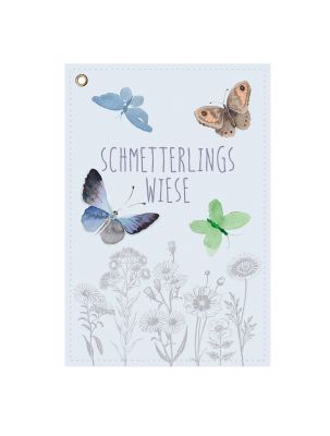 Schmetterlingsblumen Saattüte als Karte individualisierbar mit Logo