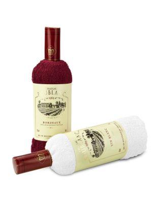 Wellness-Geschenkset Château Frottee Bordeaux