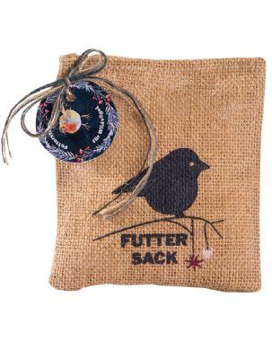 Futtersack mit Stern-Futteranhänger für Wildvögel - mit Logo