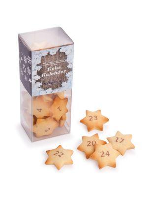 Keks-Adventskalender mit individueller Banderole