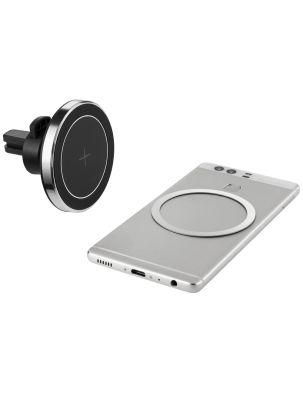 """Handyhalter Wireless Charger """"Hold & Click"""" fürs Auto mit Logodruck"""