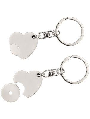 EK-Chiphalter Herz-Schlüsselanhänger silber mit Logogravur