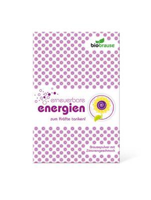 Bio-Brausepulver Erneuerbare Energien - individuell gestaltbar