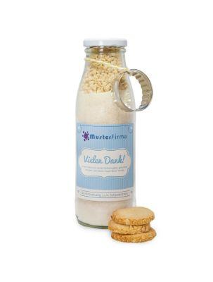 Backmischung für Kokos-Mandel-Kekse M - Etikett individuell gestaltbar