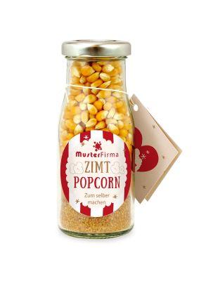 DIY Zimt Popcorn in der Flasche - Etikett individuell gestaltbar