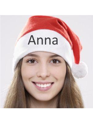 Weihnachtsmütze mit Namen oder Logo