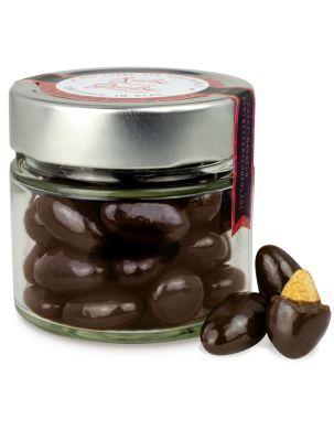 Premium Chilimandeln in Zartbitterschokolade - individuell bedruckbar