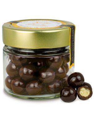 Premium Orangen Crisp in Zartbitterschokolade - individuell bedruckbar