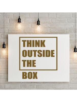 "Wandtattoo ""Think outside the box"""