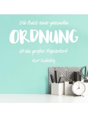 """Wandtattoo """"Ordnung"""" - Zitat Kurt Tucholsky"""