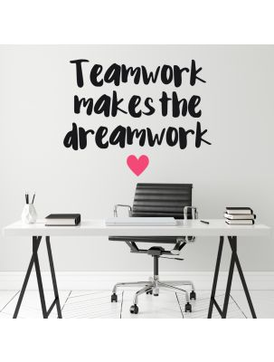 "Wandtattoo ""Teamwork makes the dreamwork"""